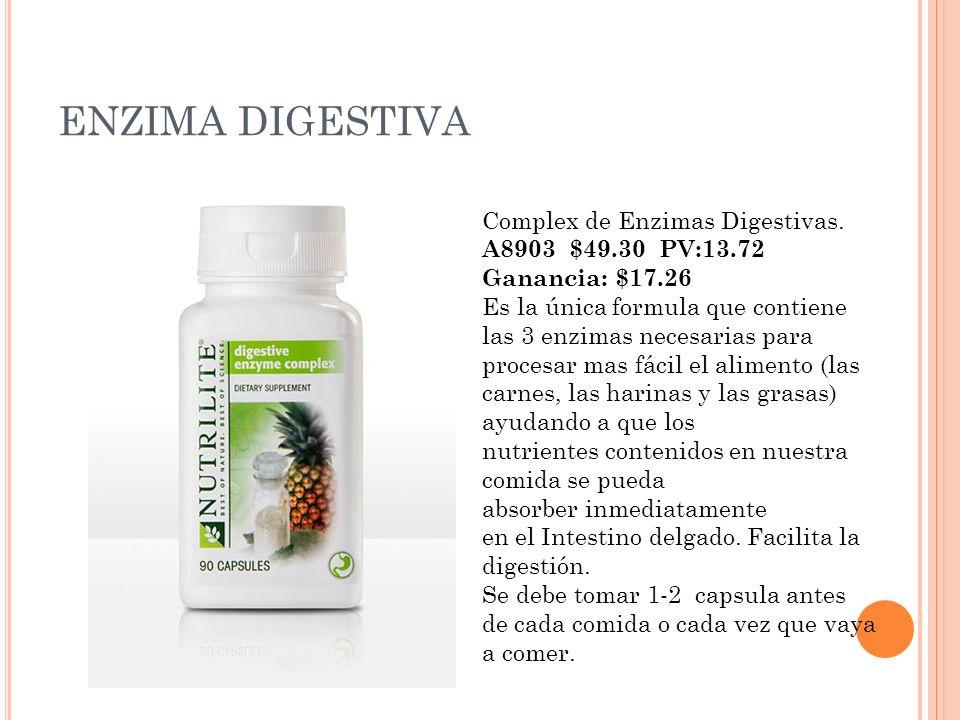 ENZIMA DIGESTIVA Complex de Enzimas Digestivas. A8903 $49.30 PV:13.72