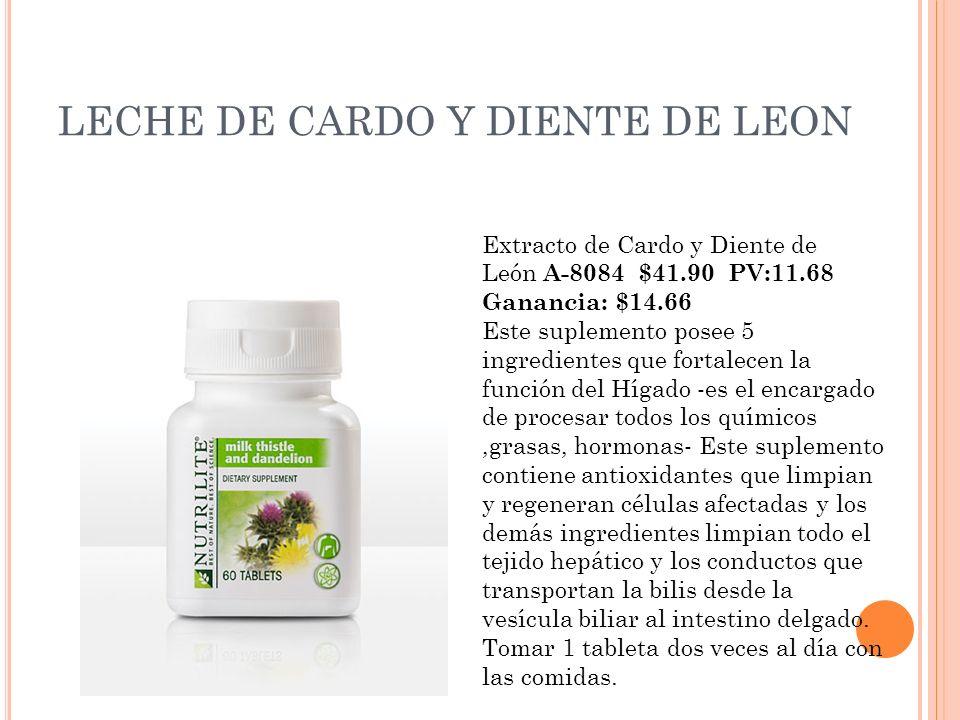 LECHE DE CARDO Y DIENTE DE LEON