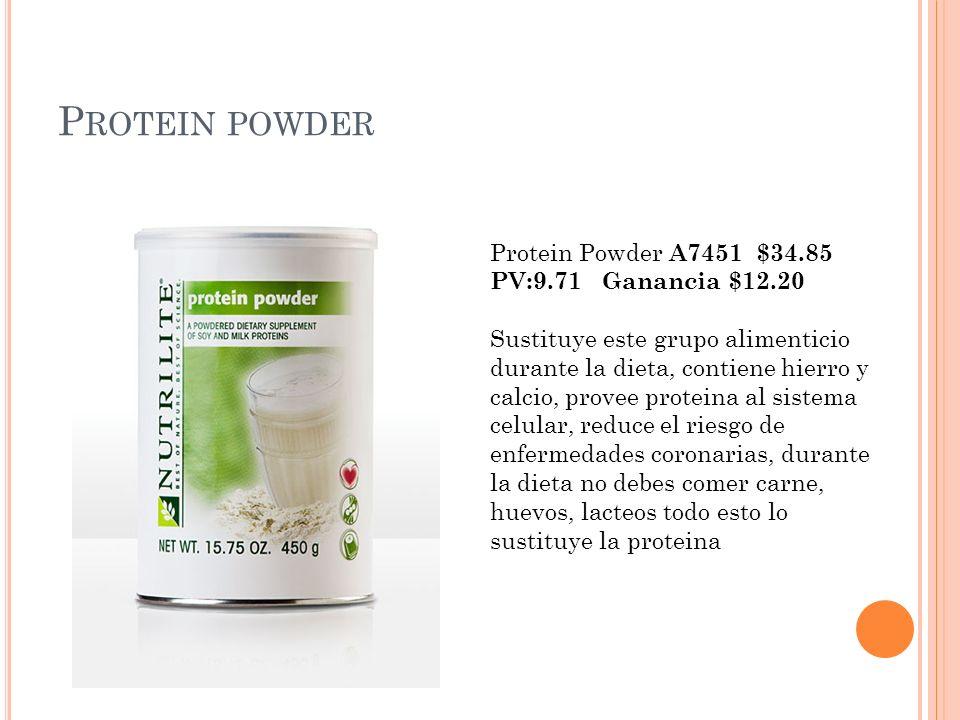 Protein powder Protein Powder A7451 $34.85 PV:9.71 Ganancia $12.20
