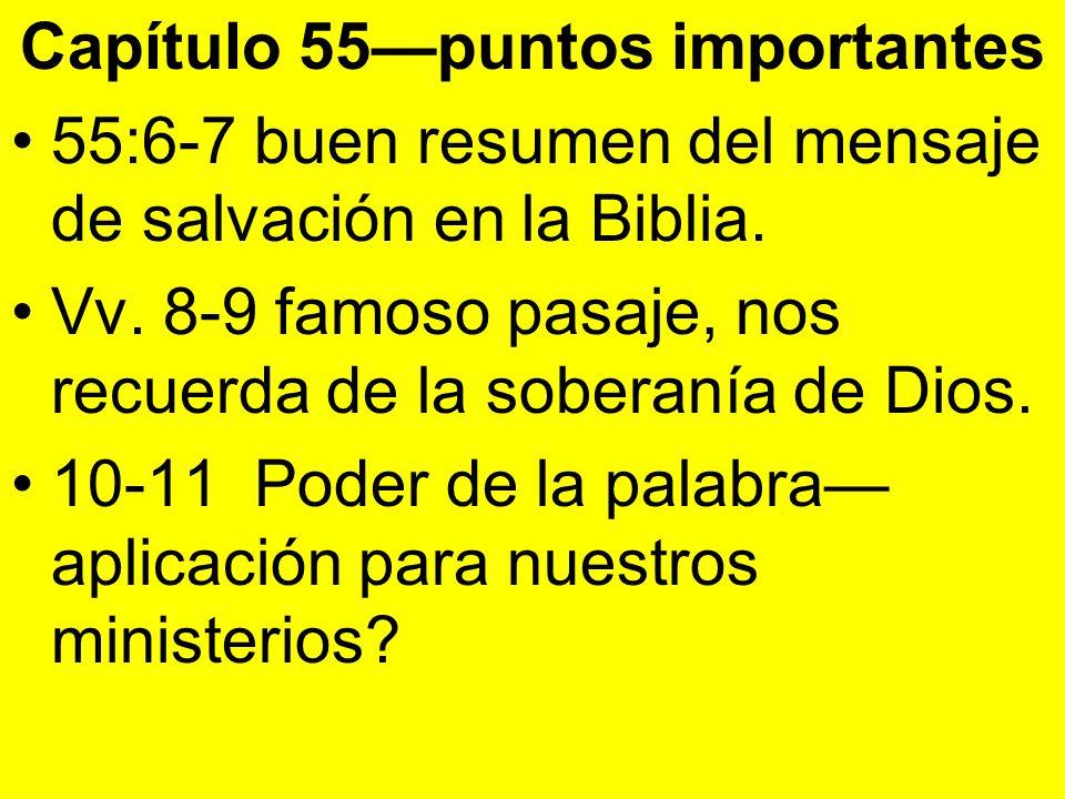 Capítulo 55—puntos importantes