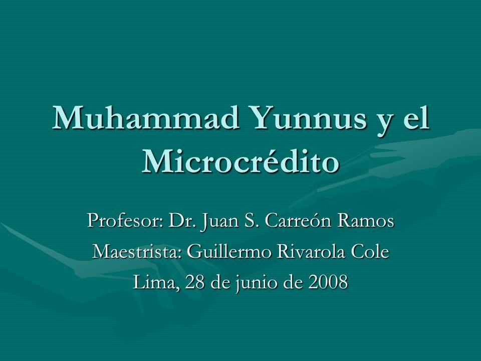Muhammad Yunnus y el Microcrédito