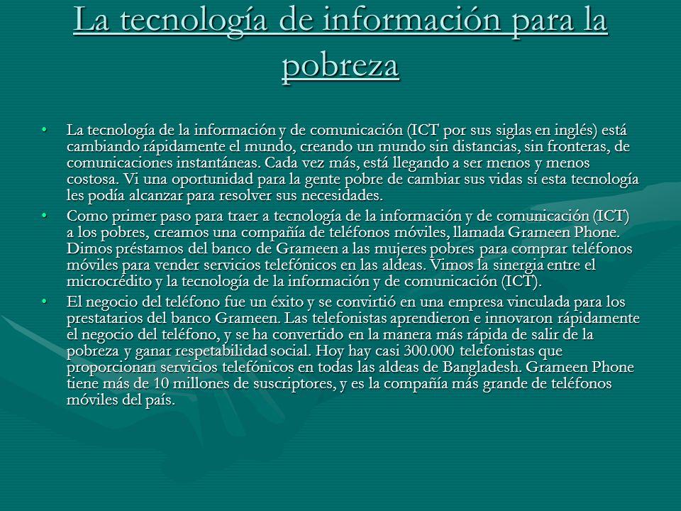 La tecnología de información para la pobreza