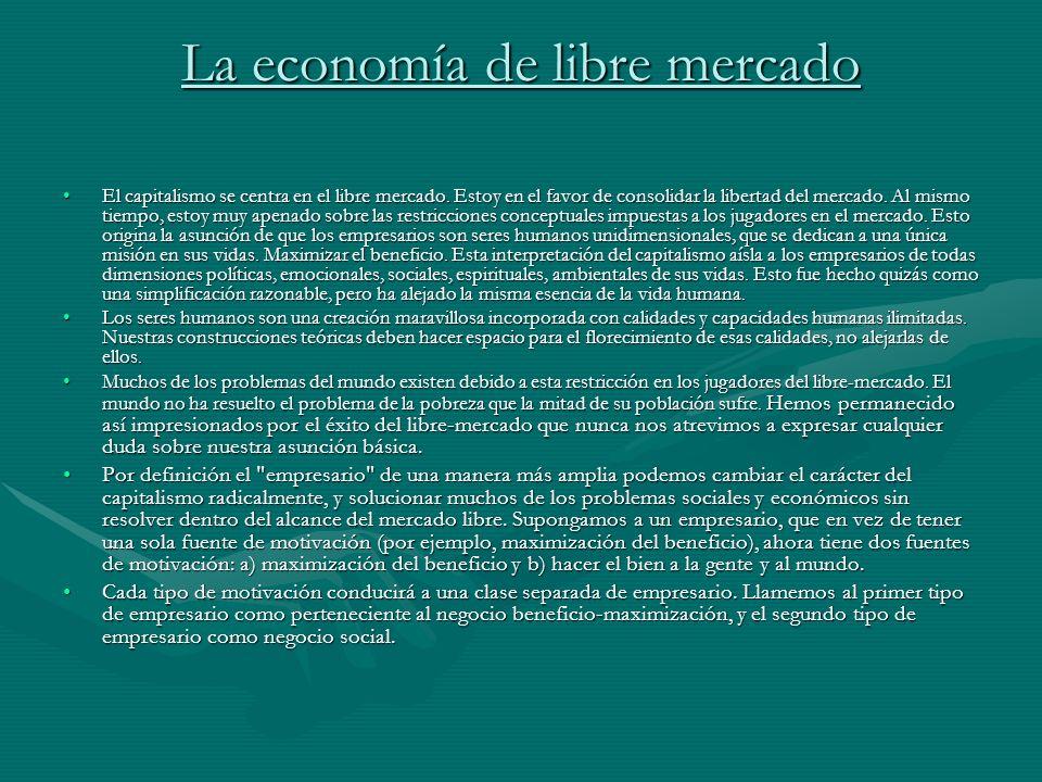La economía de libre mercado