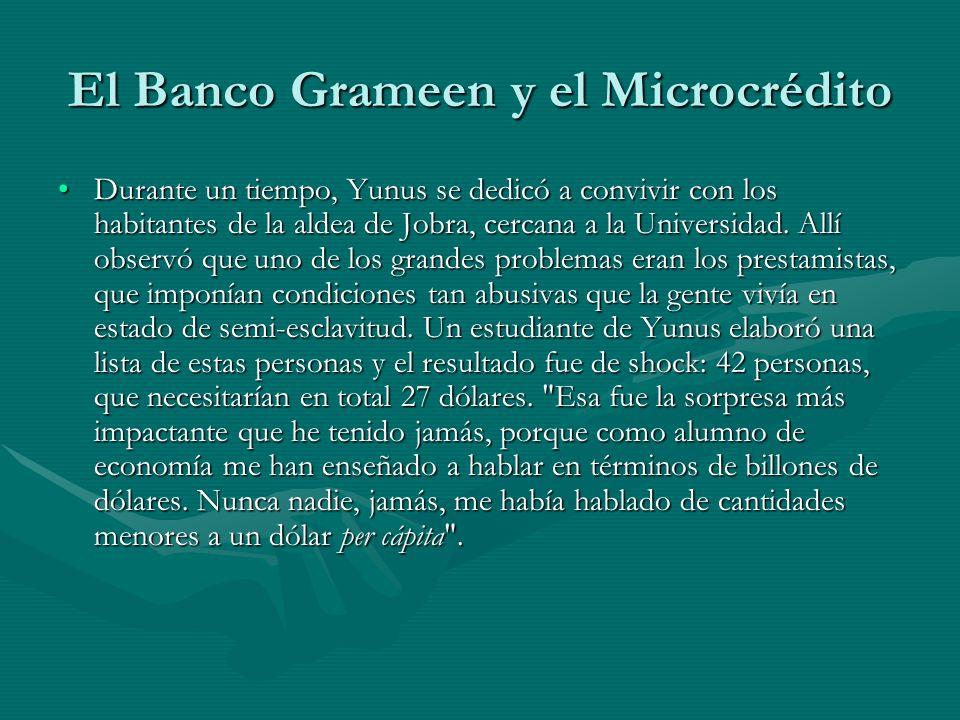 El Banco Grameen y el Microcrédito