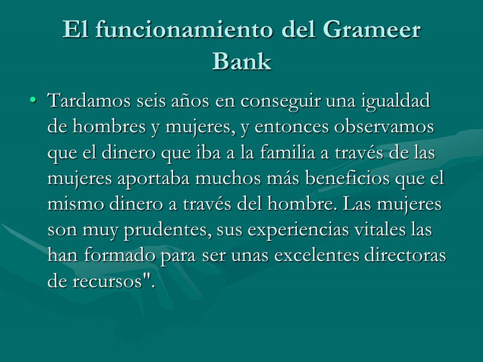El funcionamiento del Grameer Bank
