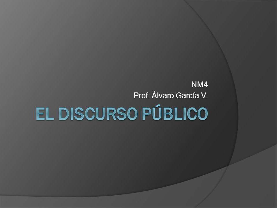 NM4 Prof. Álvaro García V. El discurso público