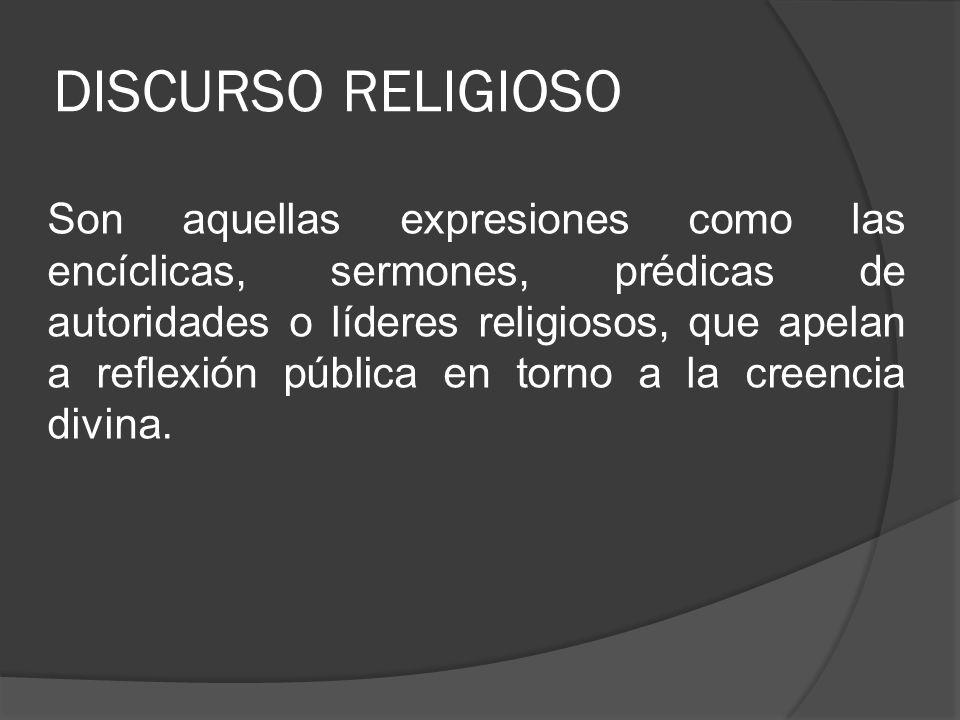 DISCURSO RELIGIOSO