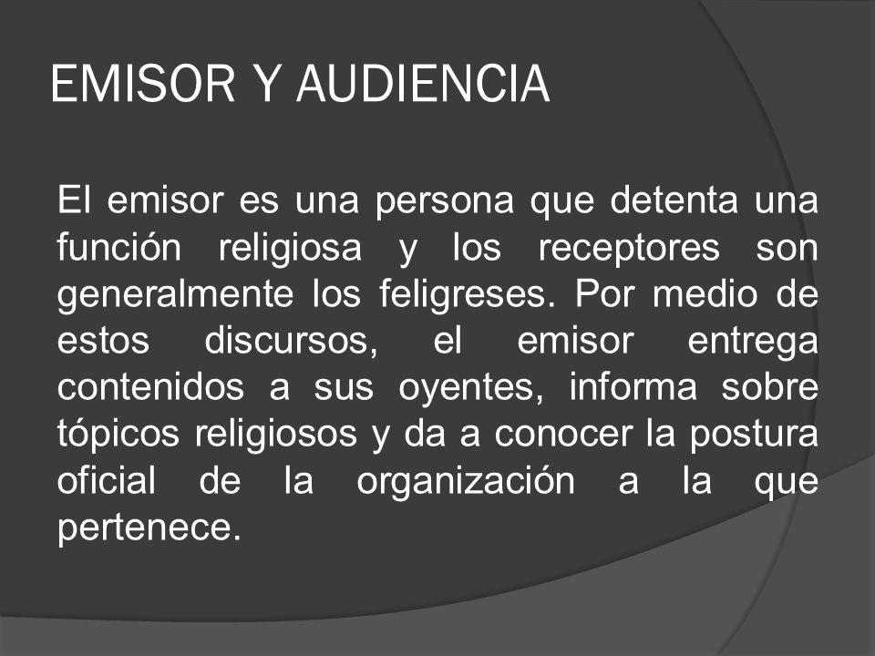 EMISOR Y AUDIENCIA