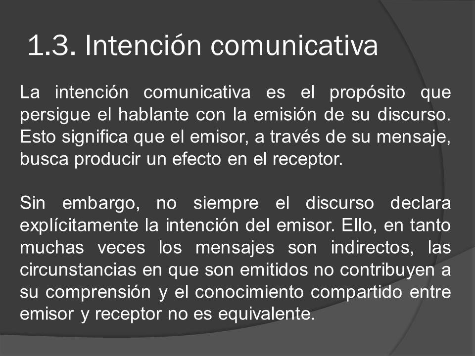 1.3. Intención comunicativa