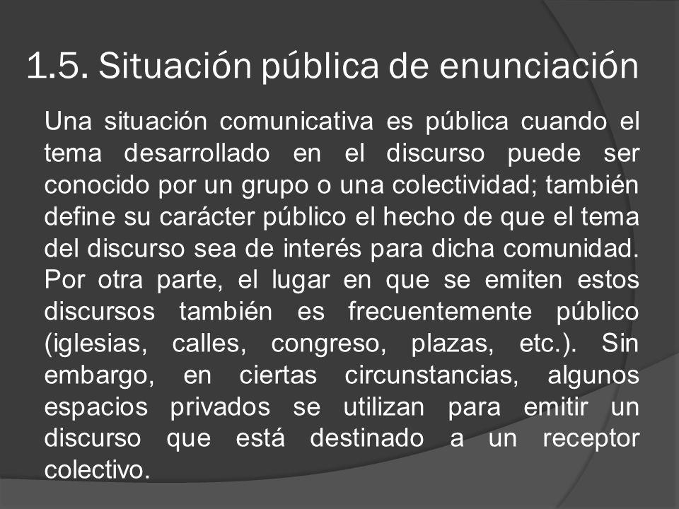 1.5. Situación pública de enunciación