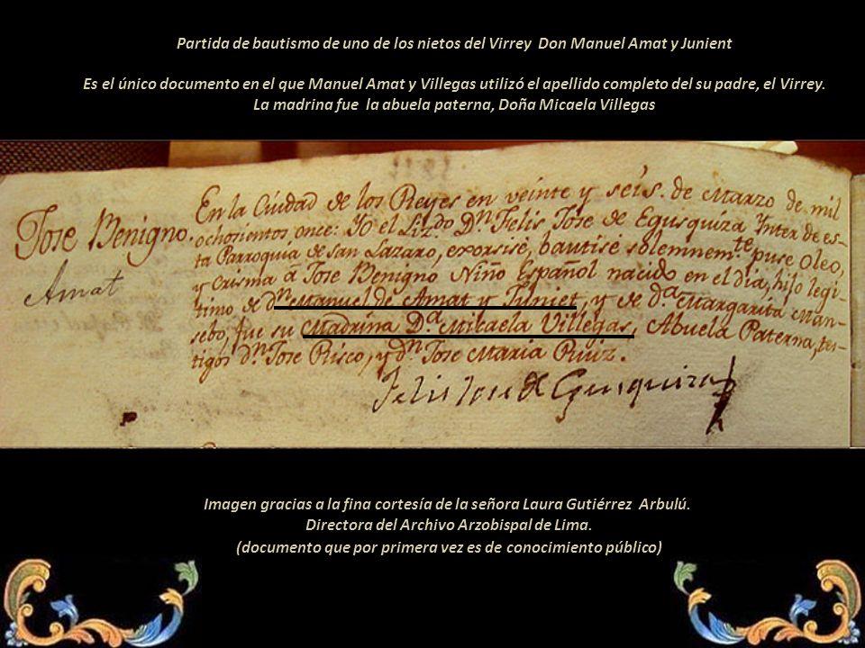 La madrina fue la abuela paterna, Doña Micaela Villegas