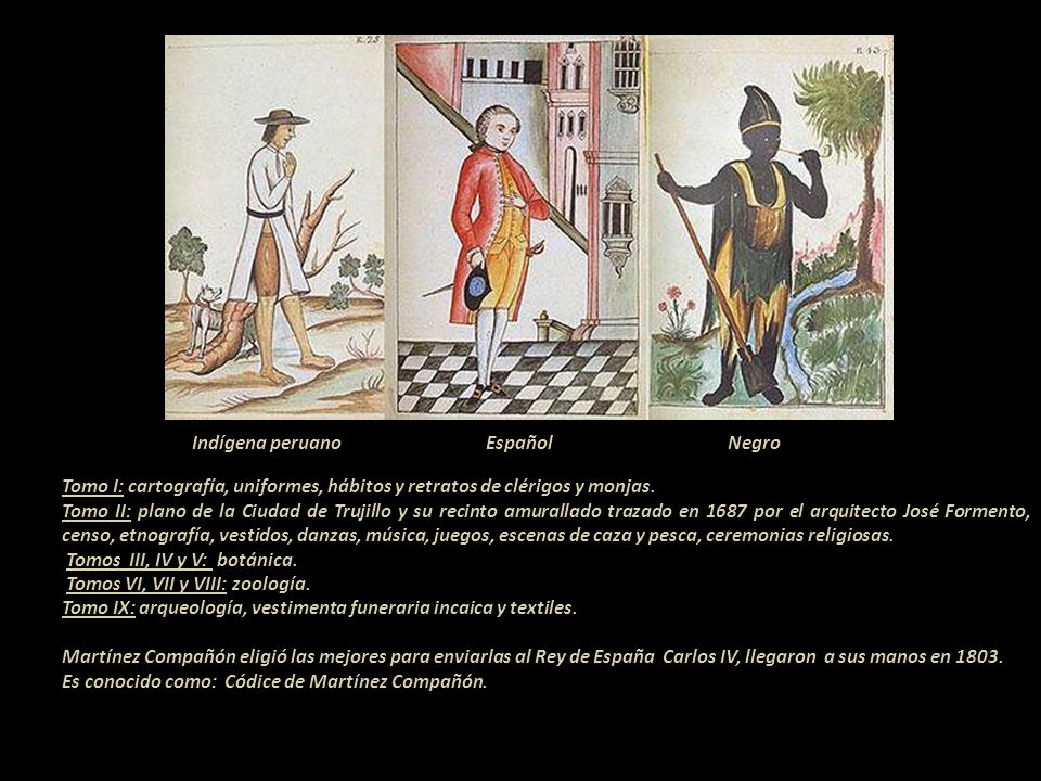 Indígena peruano Español Negro