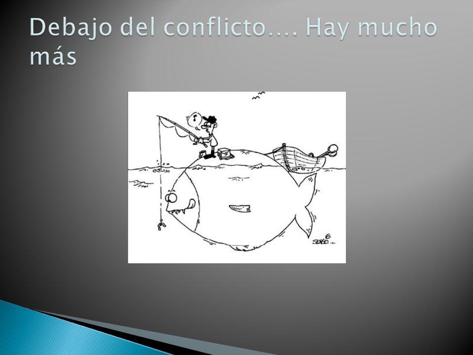 Debajo del conflicto…. Hay mucho más