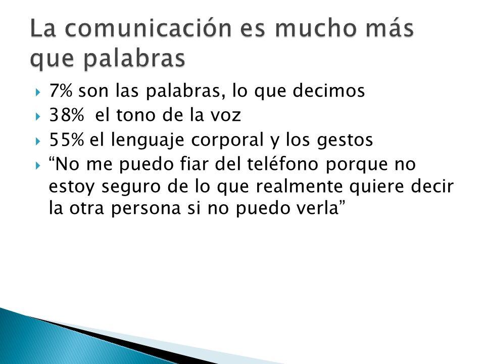 La comunicación es mucho más que palabras