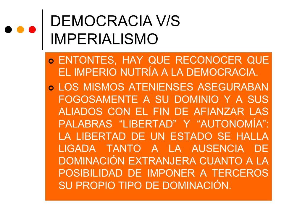 DEMOCRACIA V/S IMPERIALISMO
