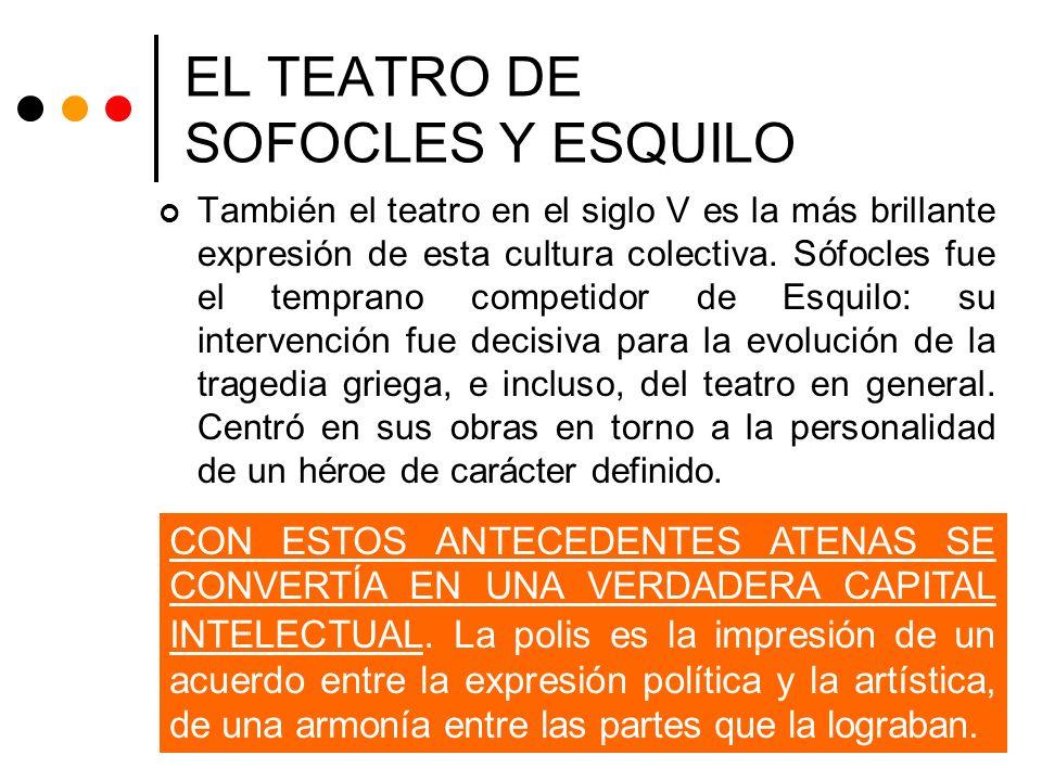 EL TEATRO DE SOFOCLES Y ESQUILO