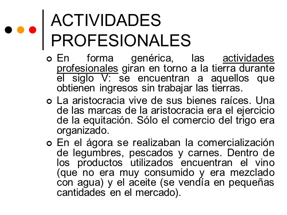 ACTIVIDADES PROFESIONALES