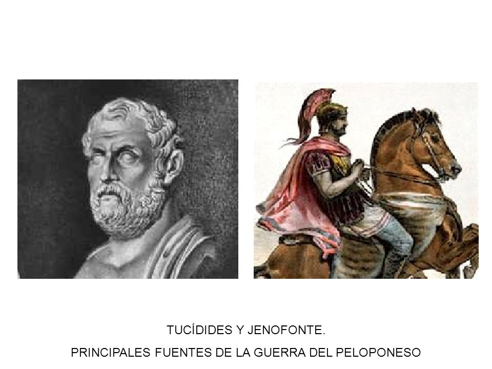 PRINCIPALES FUENTES DE LA GUERRA DEL PELOPONESO