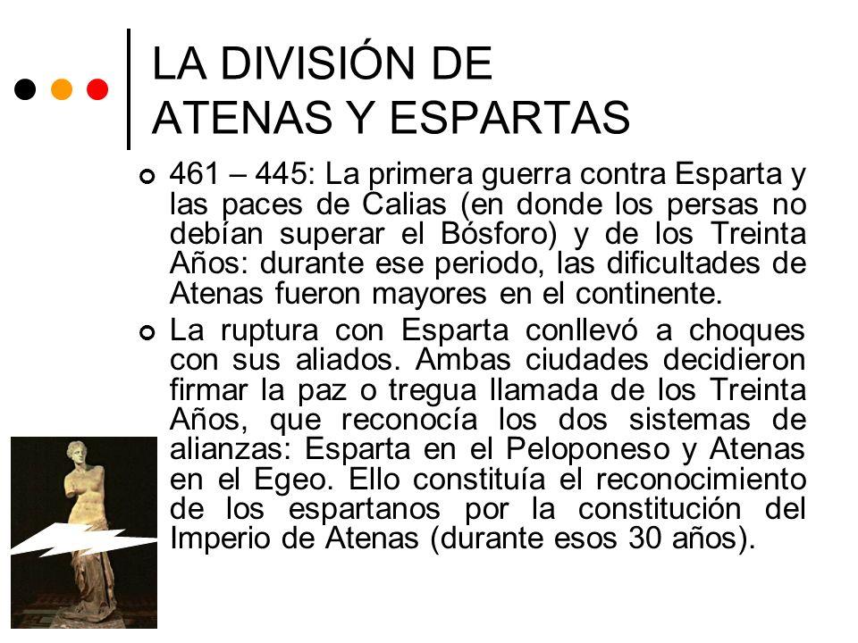 LA DIVISIÓN DE ATENAS Y ESPARTAS