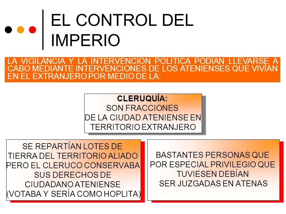 EL CONTROL DEL IMPERIO