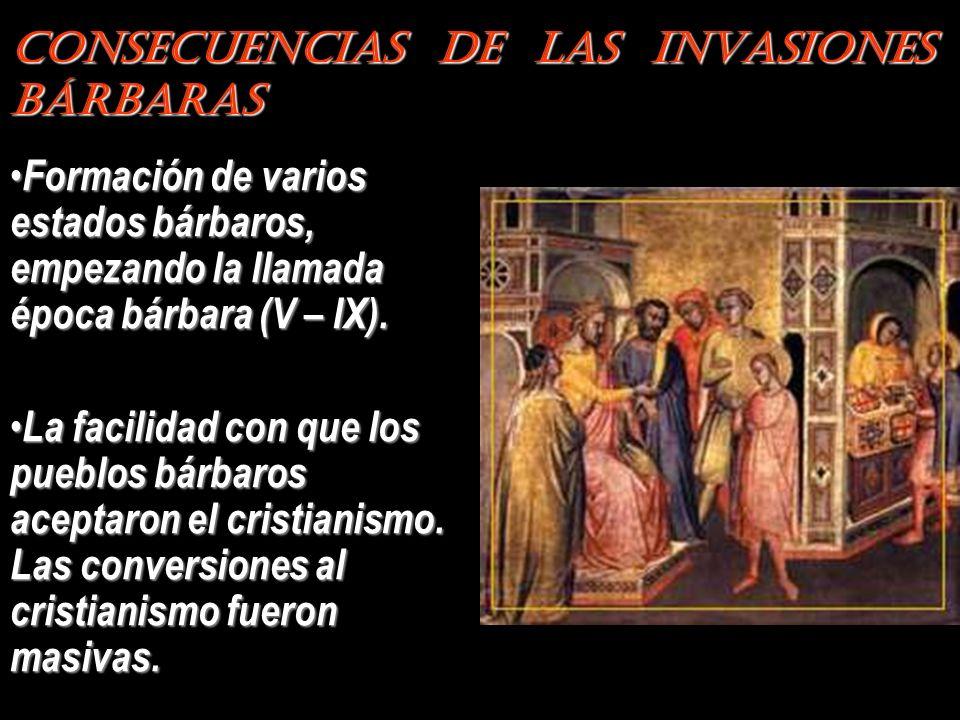 Consecuencias de las Invasiones Bárbaras