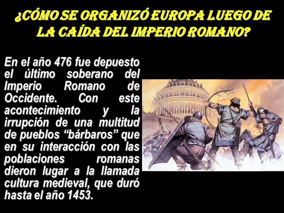 ¿Cómo se organizó Europa luego de la caída del Imperio Romano