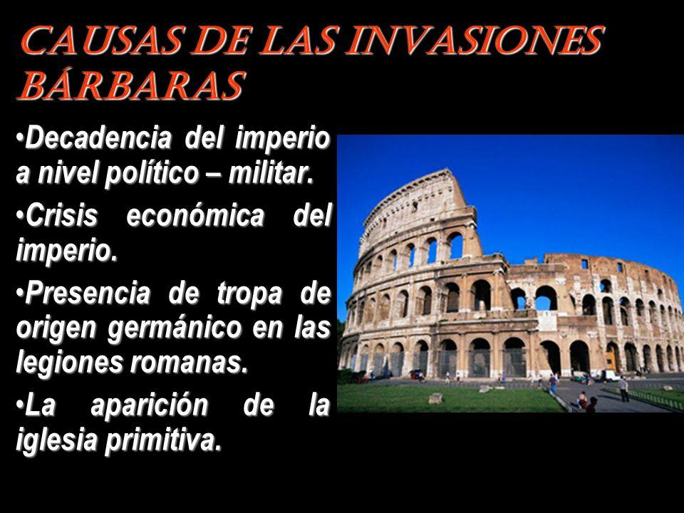 Causas de las Invasiones Bárbaras