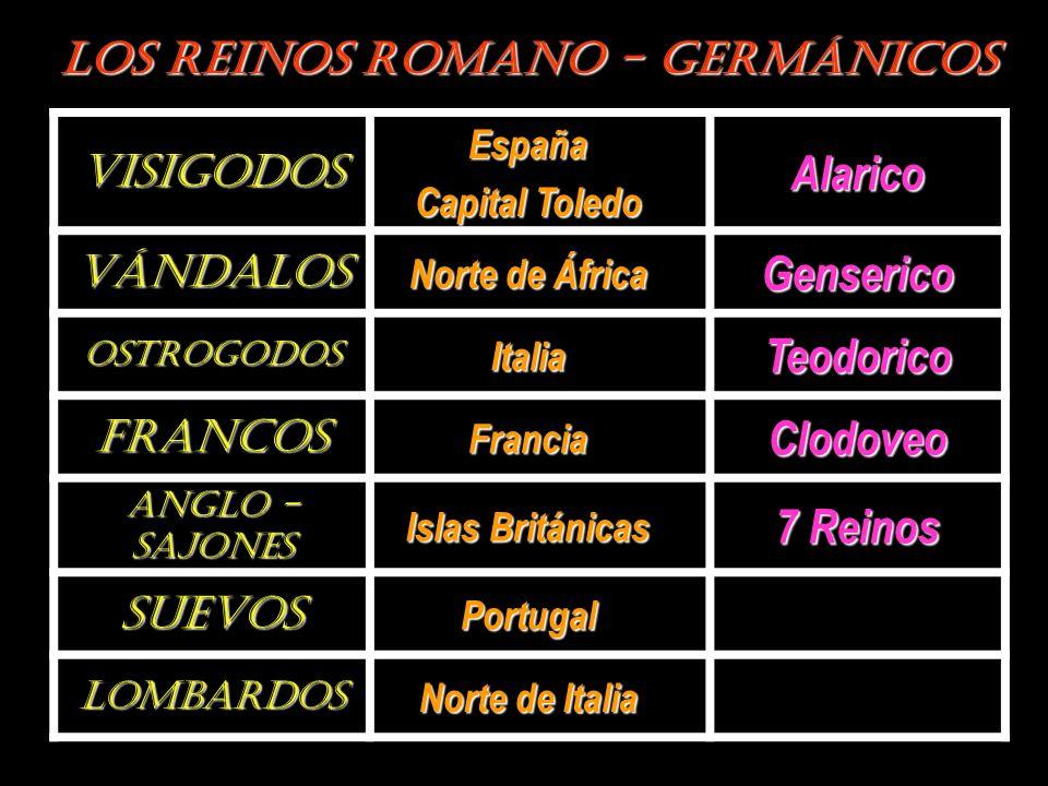 LOS REINOS ROMANO - GERMÁNICOS