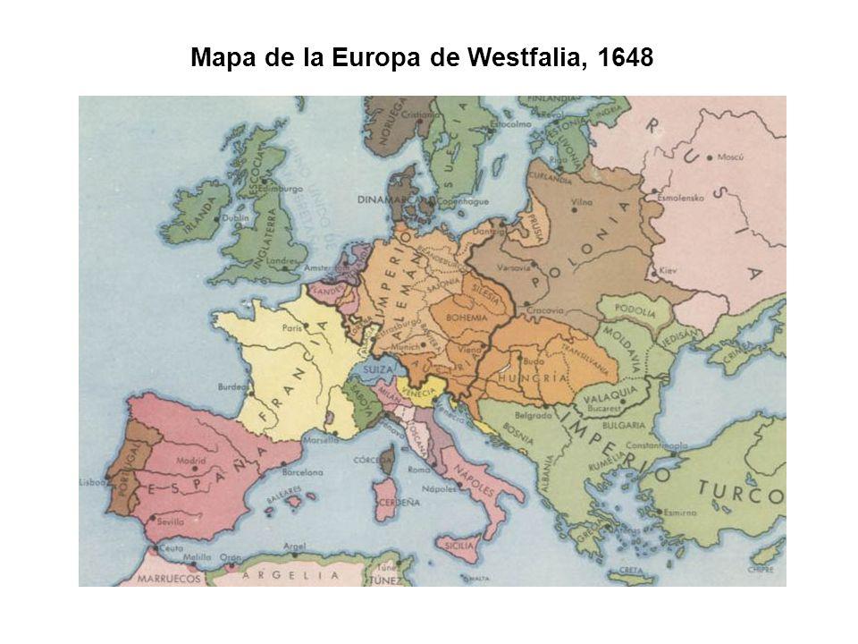 Mapa de la Europa de Westfalia, 1648