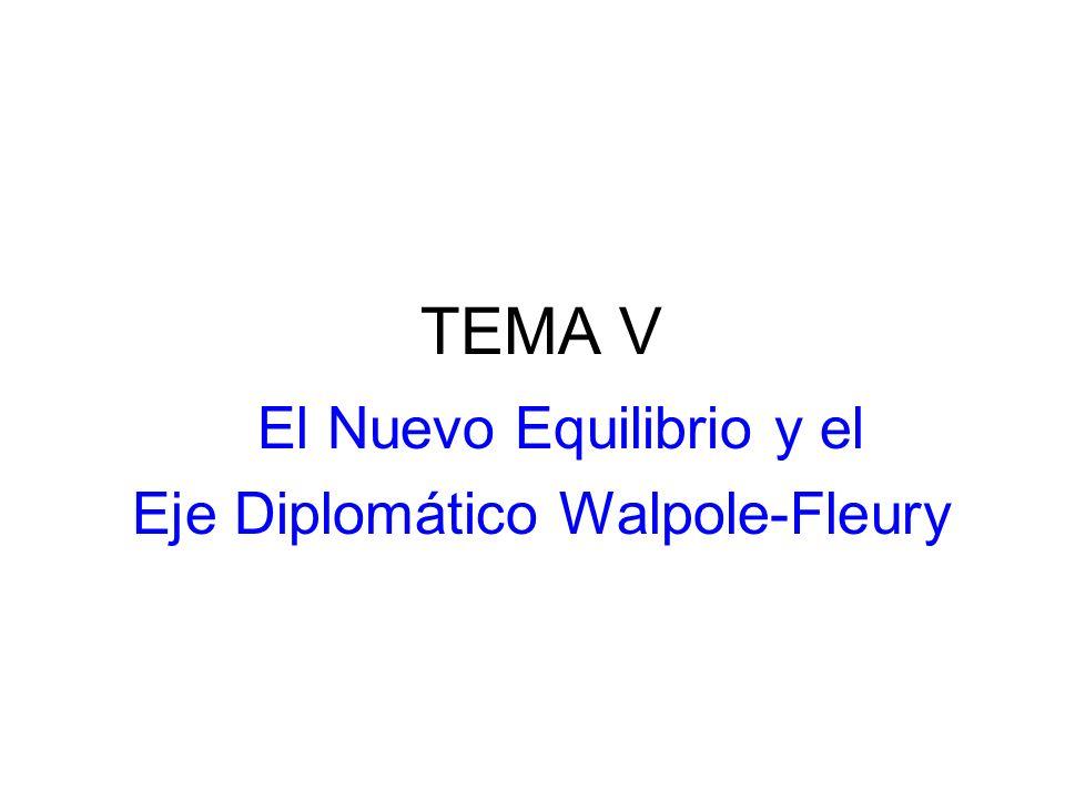 TEMA V El Nuevo Equilibrio y el Eje Diplomático Walpole-Fleury