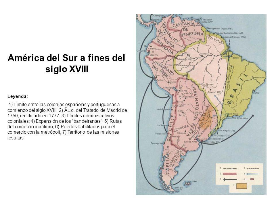 América del Sur a fines del siglo XVIII
