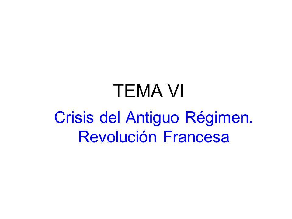Crisis del Antiguo Régimen. Revolución Francesa