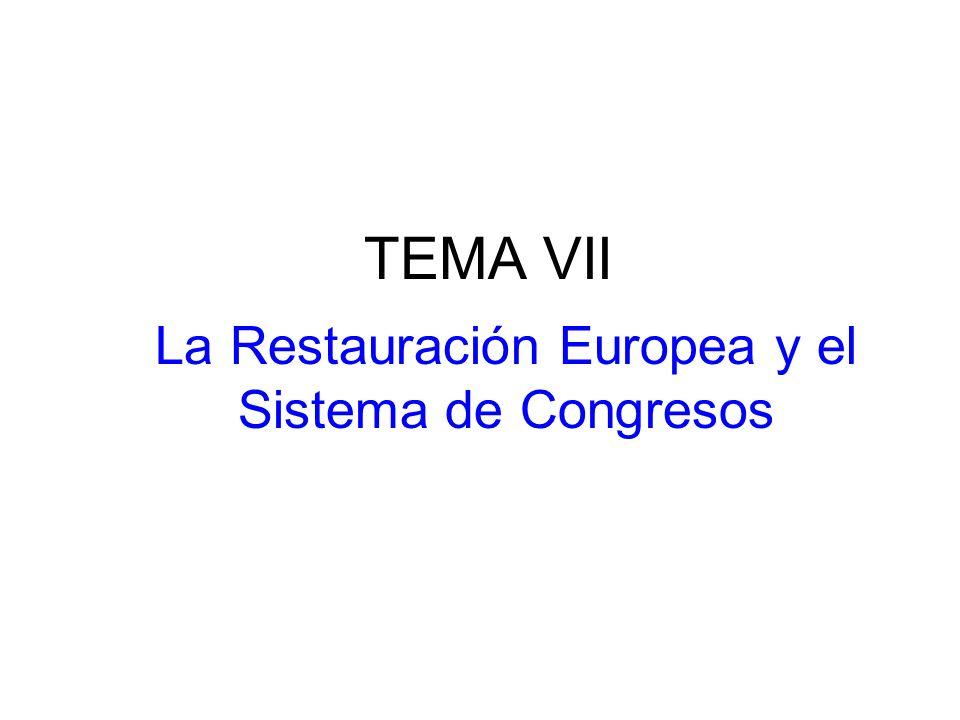La Restauración Europea y el Sistema de Congresos