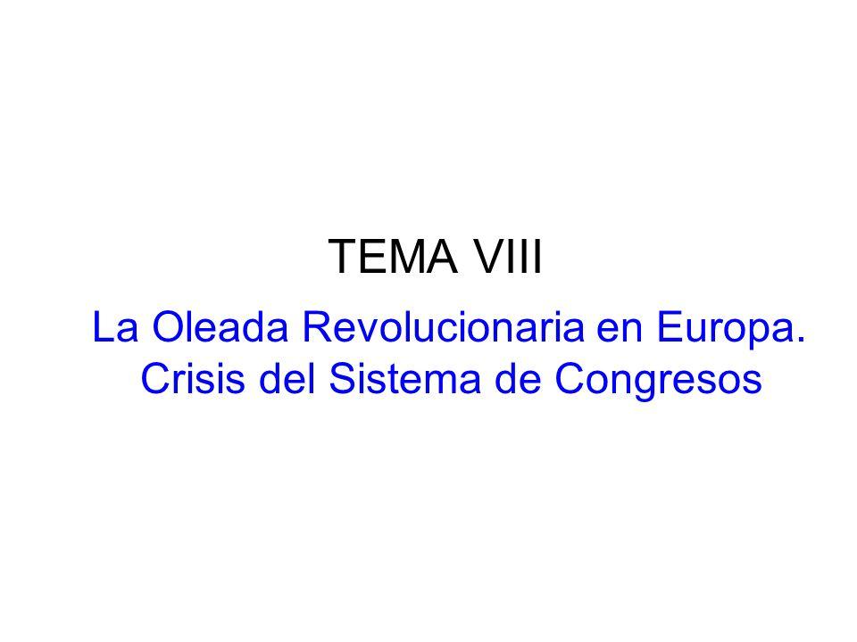 La Oleada Revolucionaria en Europa. Crisis del Sistema de Congresos