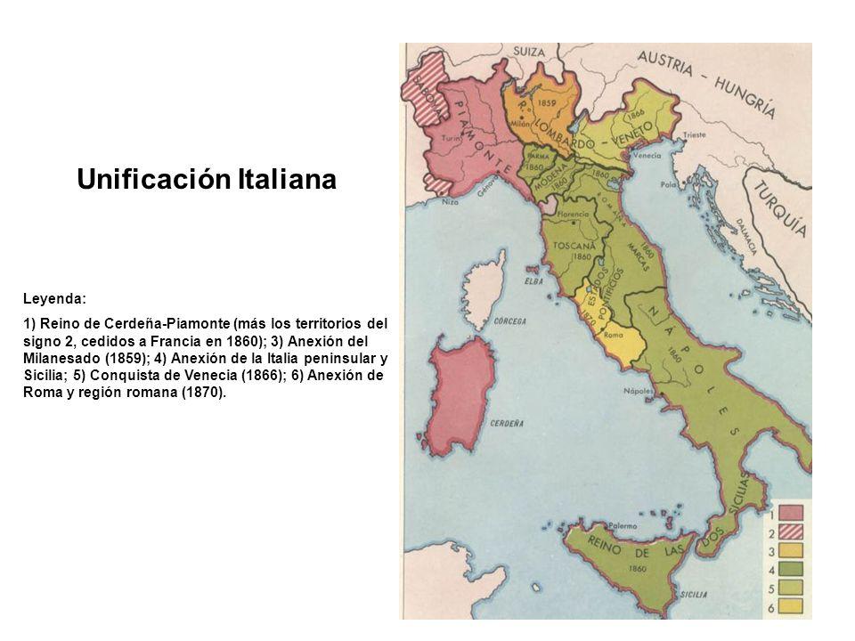 Unificación Italiana Leyenda: