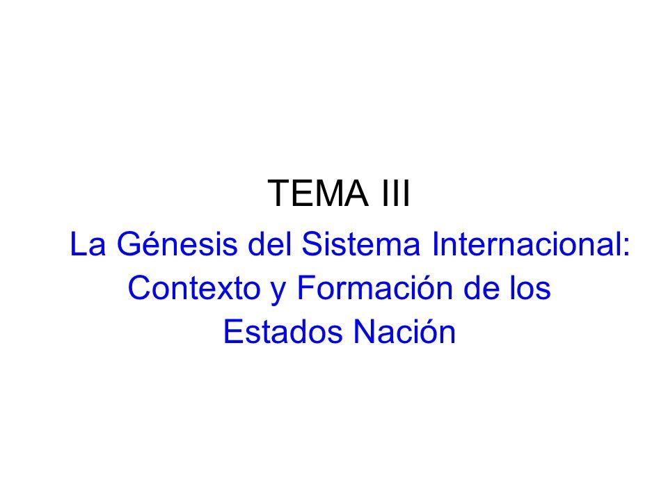 TEMA III Contexto y Formación de los Estados Nación