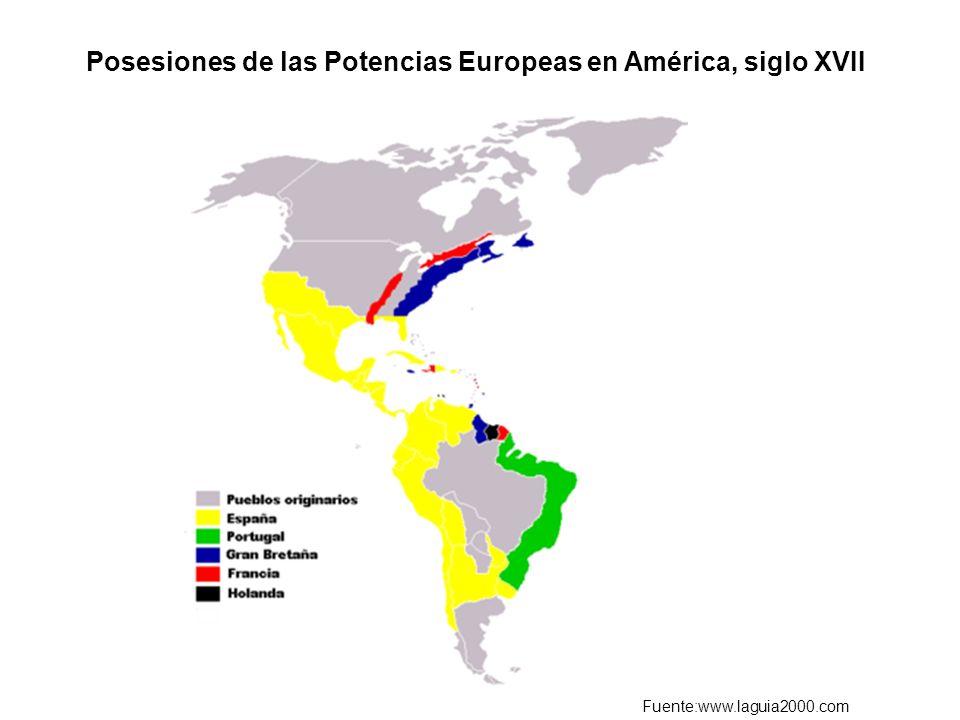 Posesiones de las Potencias Europeas en América, siglo XVII