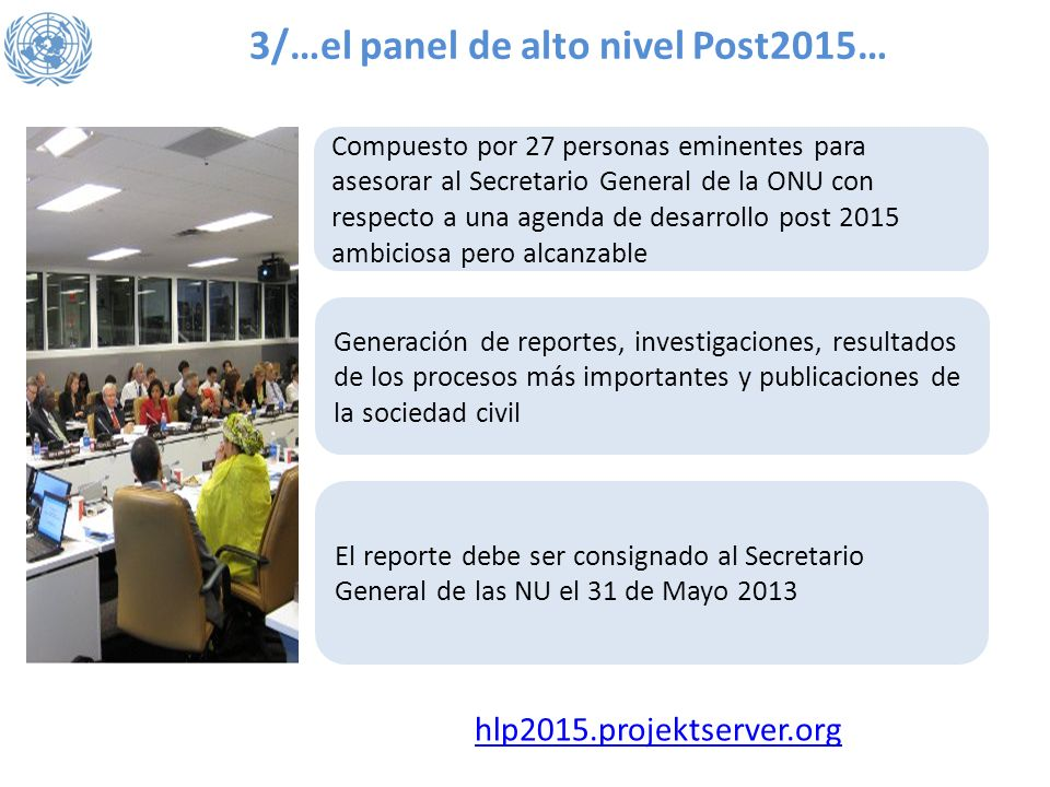 3/…el panel de alto nivel Post2015…