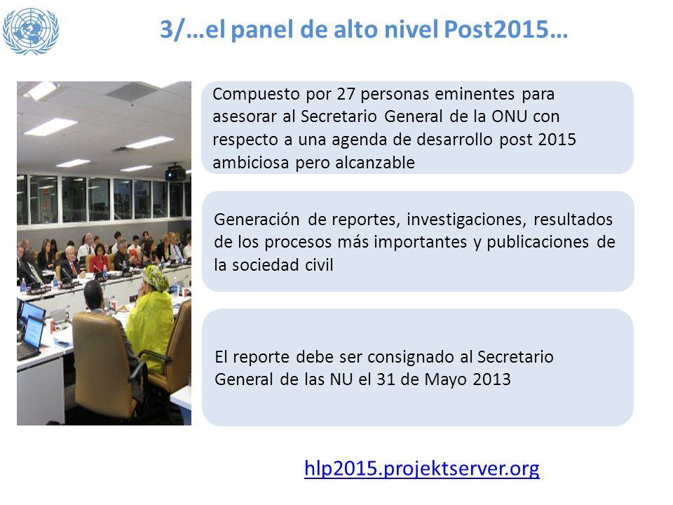 3/…el panel de alto nivel Post2015…