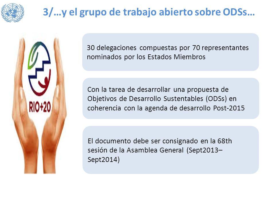 3/…y el grupo de trabajo abierto sobre ODSs…