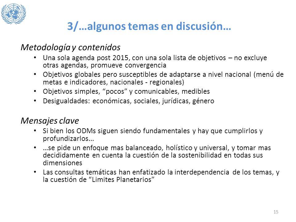 3/…algunos temas en discusión…