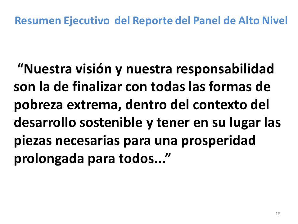Resumen Ejecutivo del Reporte del Panel de Alto Nivel
