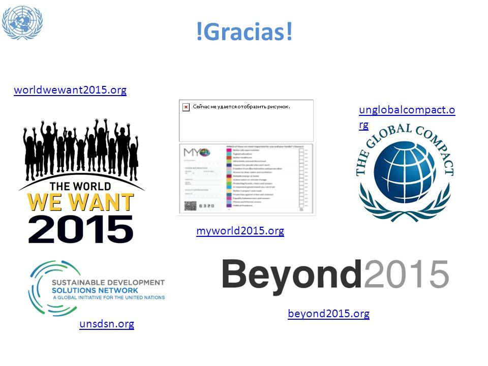 !Gracias! worldwewant2015.org unglobalcompact.org myworld2015.org