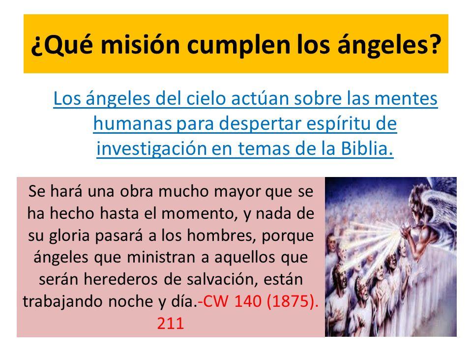 ¿Qué misión cumplen los ángeles