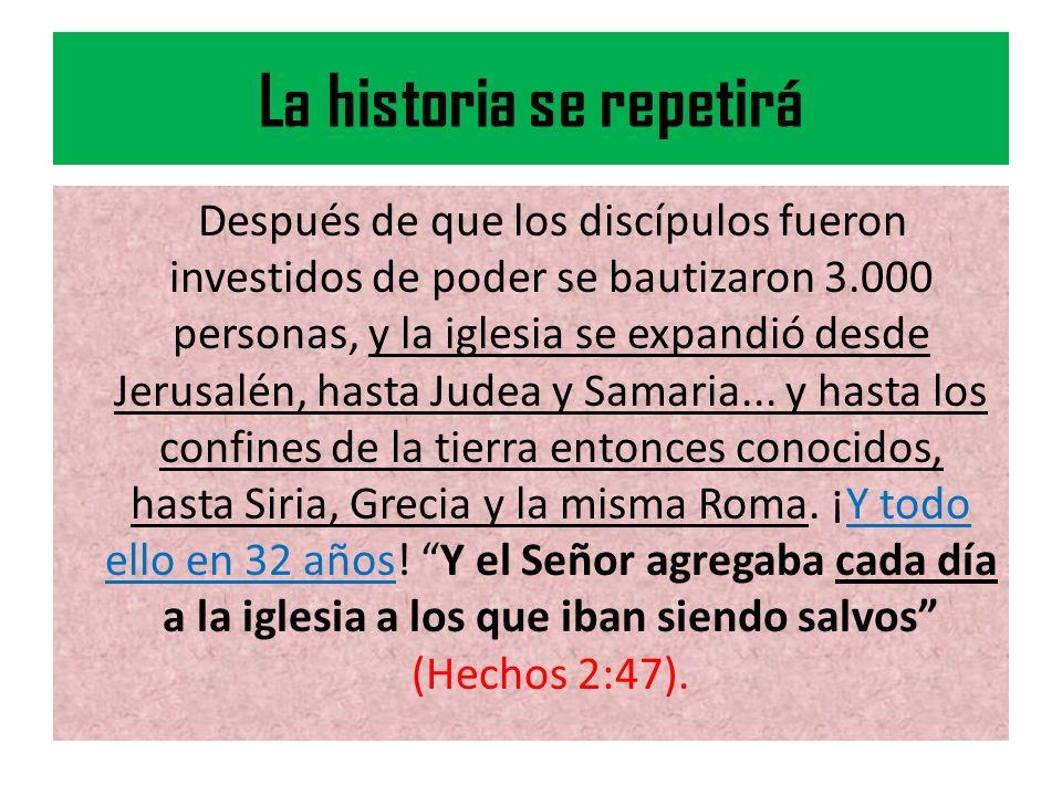 La historia se repetirá