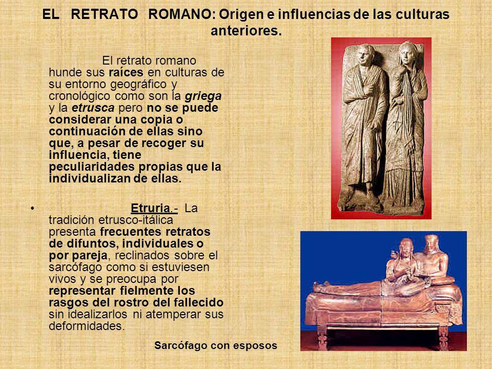 EL RETRATO ROMANO: Origen e influencias de las culturas anteriores.