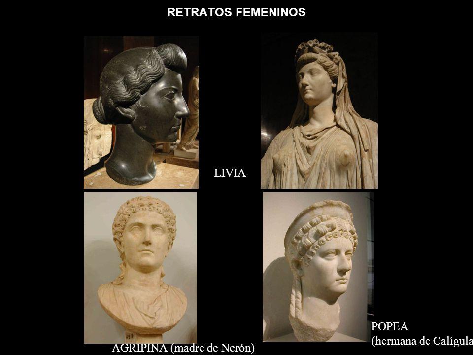 RETRATOS FEMENINOS LIVIA POPEA (hermana de Calígula) AGRIPINA (madre de Nerón)