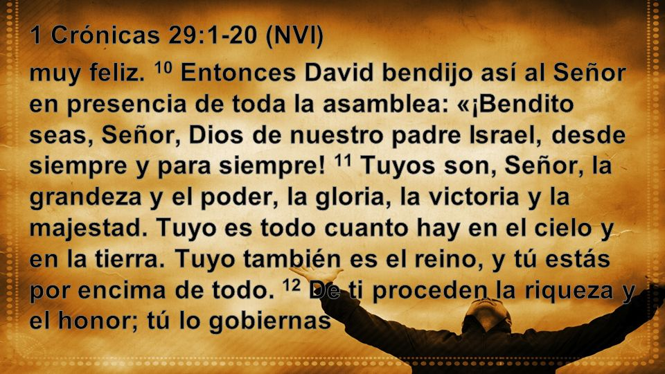 1 Crónicas 29:1-20 (NVI)