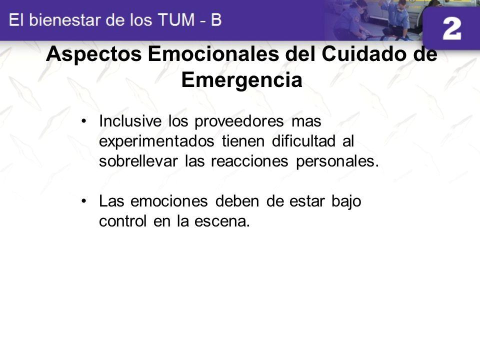 Aspectos Emocionales del Cuidado de Emergencia