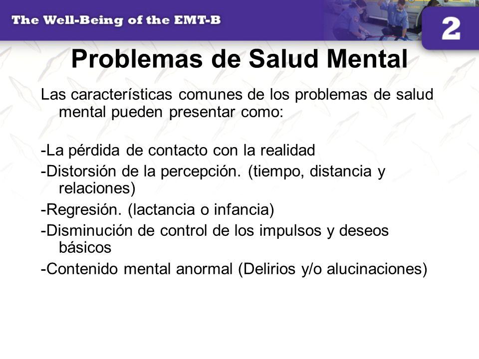 Problemas de Salud Mental